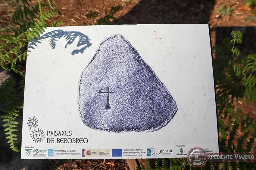 Cartel de los petroglifos en Cabo Home