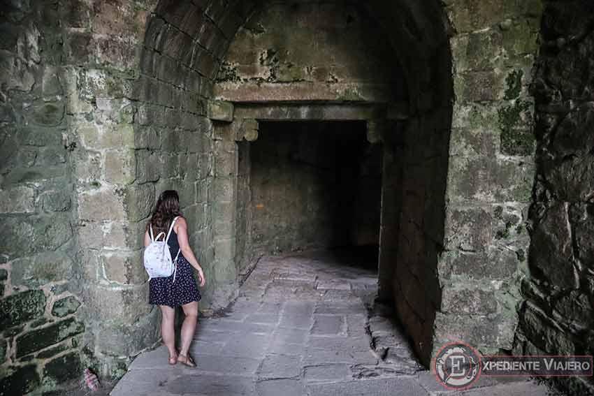 Acceso a una de las Portas da Gaviarra