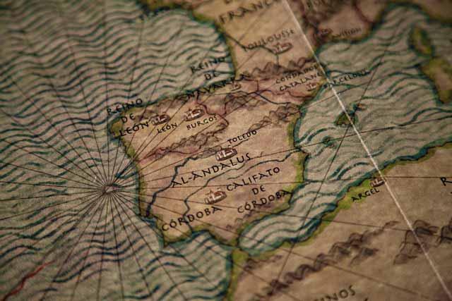 Historia del Toledo medieval: Mapa durante la conquista musulmana y el Califato de Córdoba