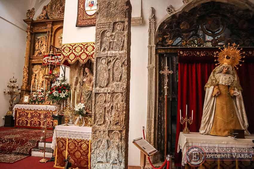 Columna visigoda de la Iglesia de El Salvador en Toledo