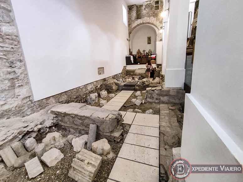 Restos arqueológicos de la Iglesia de El Salvador de Toledo
