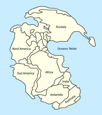 Océano Tetis y Pangea