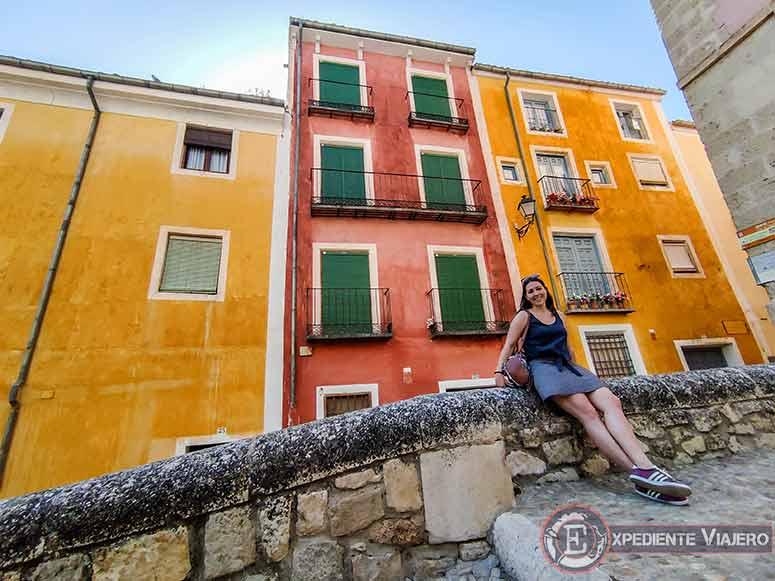 Casas coloridas en la Plaza Mayor de Cuenca