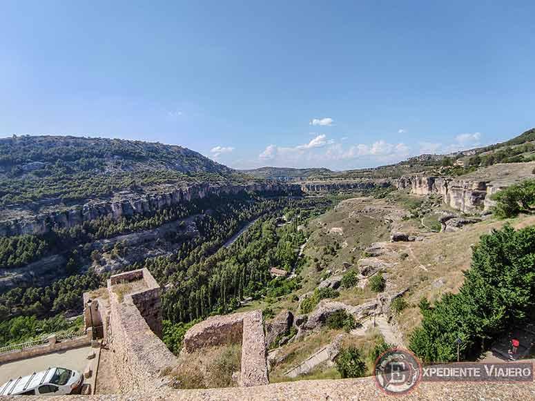 C贸mo visitar el casco hist贸rico de Cuenca: Vistas de las hoces desde el Castillo