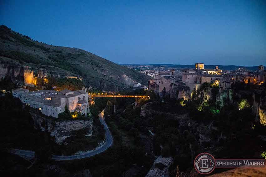 Vistas desde lo alto de las ruinas del Castillo de Cuenca